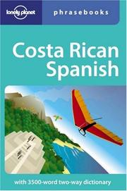Cover of: Costa Rican Spanish | Thomas Kohnstamm