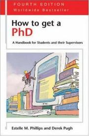 Cover of: How to get a PhD
