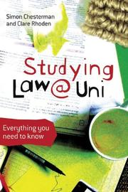 Cover of: Studying Law at University: Everything You Need to Know