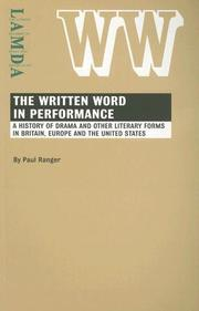 Cover of: The written word in performance