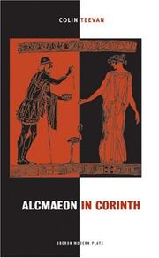 Cover of: Alcmaeon in Corinth