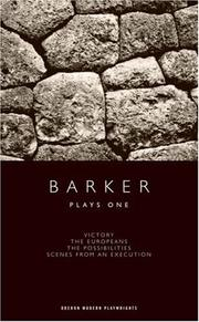Cover of: Plays one: Victory / The Europeans / The Possibilities / Scenes From an Execution (Oberon Modern Playwrights)
