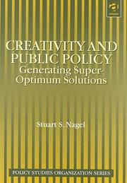 Cover of: Creativity and public policy
