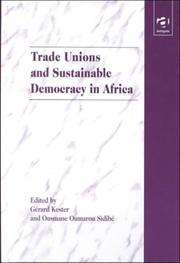 Cover of: Trade unions and sustainable democracy in Africa |