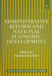 Cover of: Administrative reform and national economic development |
