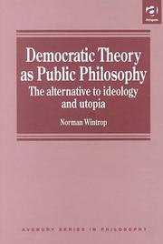 Cover of: Democratic theory as public philosophy