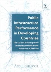Cover of: Public infrastructure performance in developing countries