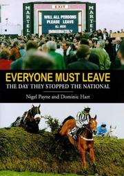 Cover of: Everyone must leave