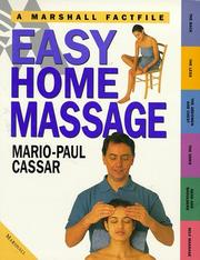 Cover of: Easy Home Massage (Marshall Factfile)