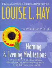 Cover of: Morning and Evening Meditations