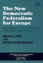 Cover of: The new democratic federalism for Europe