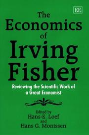 Cover of: The economics of Irving Fisher