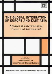 Cover of: The Global Integration of Europe and East Asia |
