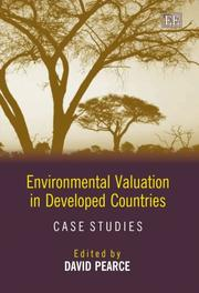 Cover of: Environmental Valuation in Developed Countries
