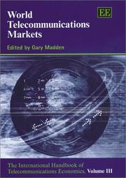Cover of: World Telecommunications Markets | Gary Madden