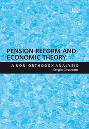Cover of: Pension Reform And Economic Theory | Sergio Cesaratto