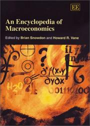 Cover of: An Encyclopedia of Macroeconomics |