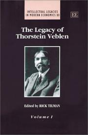 Cover of: The legacy of Thornstein Veblen |