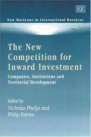 Cover of: The New Competition for Inward Investment |