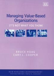Cover of: Managing value-based organizations | Bruce Hoag