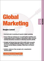 Cover of: Global Marketing | Douglas Lamont
