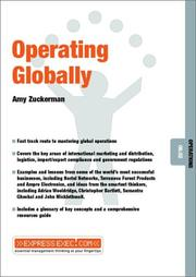 Cover of: Operating Globally