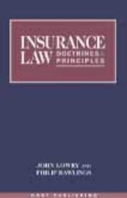 Cover of: Insurance law | John P. Lowry