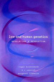 Cover of: Law and human genetics