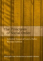 The principles of social order by Lon L. Fuller