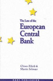 Cover of: The law of the European Central Bank
