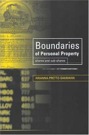 Cover of: Boundaries Of Personal Property Law | Arianna Pretto-Sakmann
