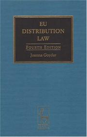 Cover of: EU distribution law