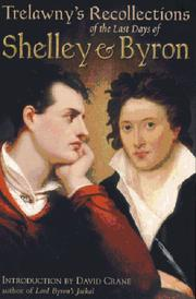 Cover of: The last days of Shelley and Byron