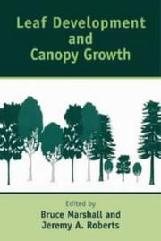 Cover of: Leaf Development and Canopy Growth (Sheffield Biological Sciences)