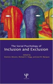 Cover of: Social psychology of inclusion and exclusion