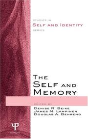 Cover of: The Self and Memory (Studies in Self Andidentity) | Lampinen Beike
