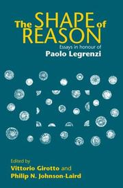 Cover of: The Shape of Reason | V. Girotto