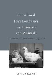 Cover of: Relational psychophysics in humans and animals