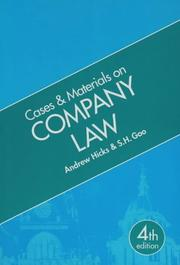Cover of: Cases and Materials on Company Law (Cases & Materials)