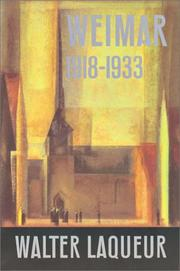 Cover of: Weimar 1918-1933