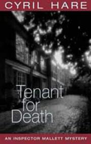 Cover of: Tenant for Death (Inspector Mallett Mystery)