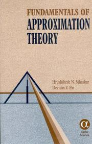 Cover of: Fundamentals of Approximation Theory | H. N. Mhaskar