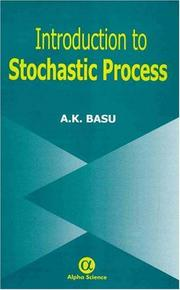 Cover of: Introduction to Stochastic Process