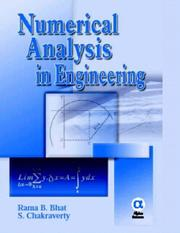 Numerical Analysis In Engineering by R. B. Bhat, S. Chakraverty