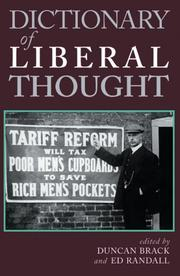 Cover of: Dictionary of Liberal Thought |