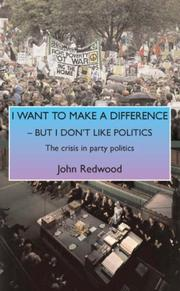 Cover of: I Want to Make a Difference