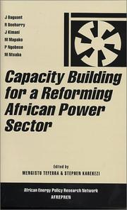 Cover of: Capacity Building for a Reforming African Power Sector (African Energy Policy Research Series) |
