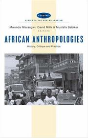 Cover of: African Anthropologies |