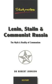 Cover of: Lenin, Stalin & Communist Russia | Robert Johnson
