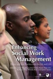 Cover of: Enhancing social work management |